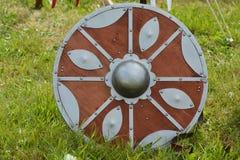 圆的中世纪盾 免版税库存图片