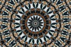 圆的五颜六色的万花筒 免版税库存图片