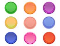 圆的五颜六色的按钮 库存图片