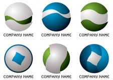 圆的公司徽标 库存照片
