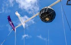 圆的公司旗数组段:Fremantle,西澳州 库存照片