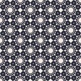 圆的几何无缝的样式 免版税库存照片