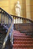 圆的华丽楼梯 库存图片