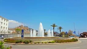 圆的喷泉 被击中的水注  手段布拉内斯 股票录像