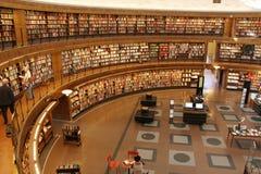 圆的图书馆 图库摄影