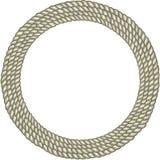 圆的圈子绳索边界 免版税库存图片