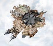 圆的圈子360度布拉格摄影,捷克 免版税图库摄影