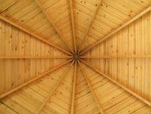 圆的屋顶木头 库存照片