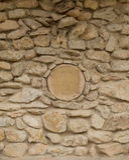 圆的岩石圈子墙壁 免版税库存图片