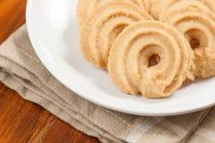 圆的形状的曲奇饼 库存图片