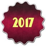 2017圆的徽章 免版税库存照片