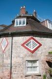 圆的房子的画象 库存照片