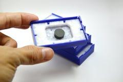 圆的插入物切口 库存图片