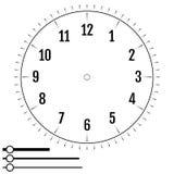 圆的时钟表盘 人的设计 技工空白的显示拨号盘  皇族释放例证
