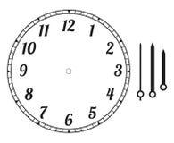圆的时钟表盘 库存例证