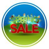 圆的春天销售标志 免版税库存图片