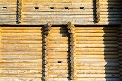 圆的木材 库存照片