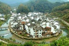 圆的村庄 免版税库存图片