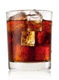 圆的杯与冰的可乐 库存图片