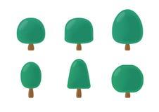圆的树动画片组装 免版税库存照片