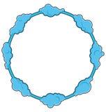 圆的框架包括云彩 也corel凹道例证向量 免版税库存照片