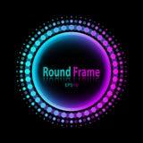 圆的框架设计 图库摄影
