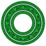 圆的框架,三叶草 库存图片