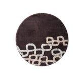 圆的棕色地毯 图库摄影