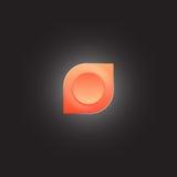 圆的橙色五颜六色的商标或象 免版税库存图片