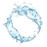 圆的水飞溅 库存图片