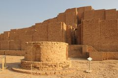 圆的法坛在Chogha Zanbil,伊朗 库存照片