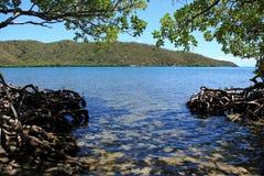 圆的海湾在圣约翰 免版税库存图片