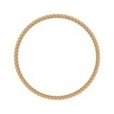 圆的海洋绳索框架 免版税库存照片