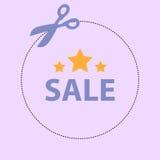 圆的淡紫色销售优惠券 库存照片