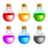 圆的瓶 免版税库存图片