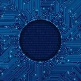 圆的电路板框架 免版税库存照片