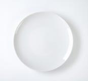 圆的白色板材 图库摄影