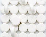 圆的白色药片 免版税库存图片
