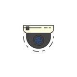 圆的监视器传染媒介平的象 库存照片