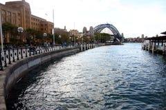 圆的码头悉尼 库存图片