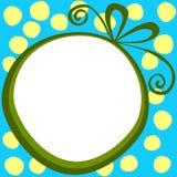 圆的礼物盒框架圣诞节礼物标记 图库摄影