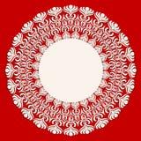 圆的米黄装饰品框架 免版税库存照片