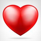 圆的红色心脏象被隔绝的传染媒介 库存图片