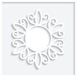 圆的纸框架 免版税库存图片
