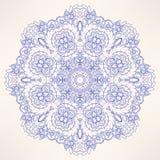 圆的自然紫色样式 免版税库存图片