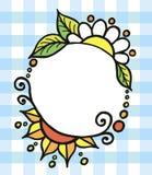 圆的色的装饰被绘的传染媒介框架 库存照片
