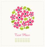 圆的花 逗人喜爱的花花束 能为招呼和喜帖,礼物,明信片,邀请使用 圆的sha 图库摄影
