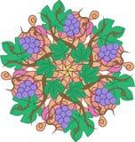 圆的葡萄样式 图库摄影