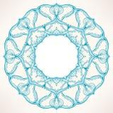 圆的蓝色样式 免版税库存图片
