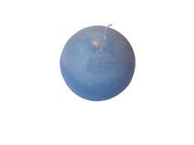 圆的蓝色蜡烛 图库摄影
